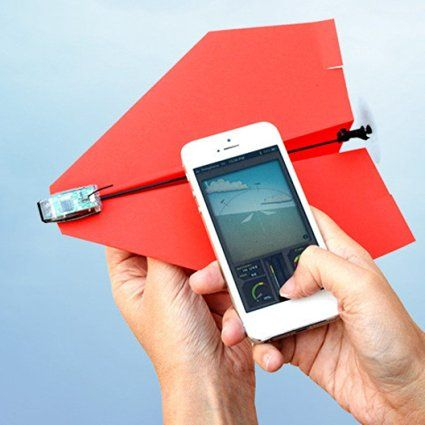 Smartphone Controlled Paper Aeroplane - turn your paper aeroplane into one you can control with your smartphone #office fun gifts gadgets