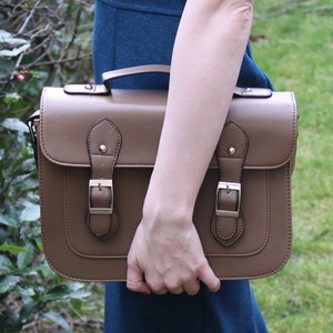 Retro Style Brown Satchel, £64, now featured on Fab.