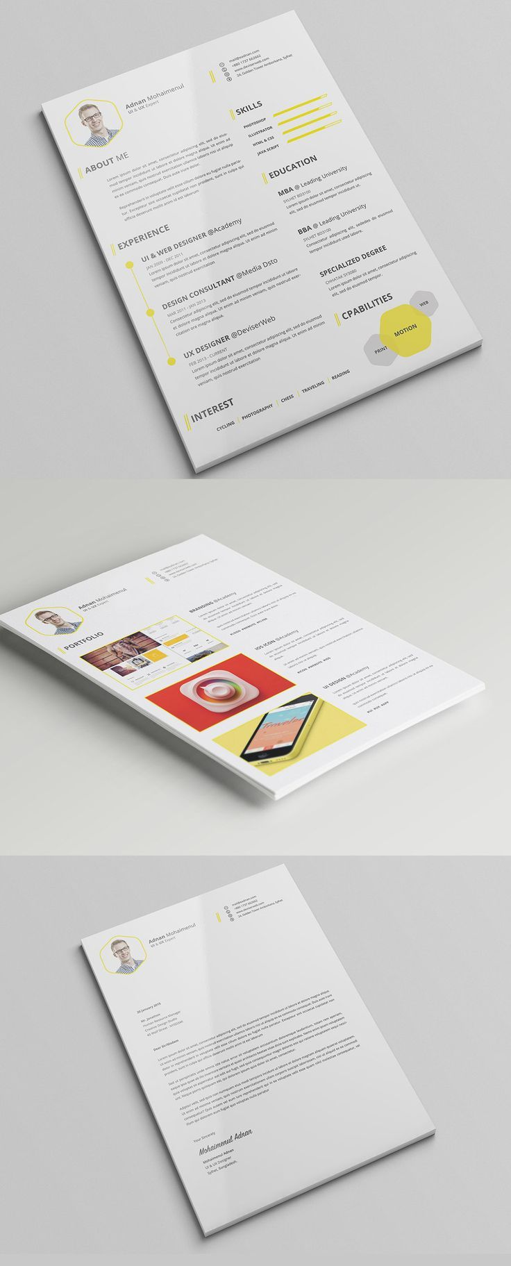 This Minimal And Professional Cv Template Will Help You To Create Your Cv Resume Cv Template Professional Cover Letter For Resume Psd Templates