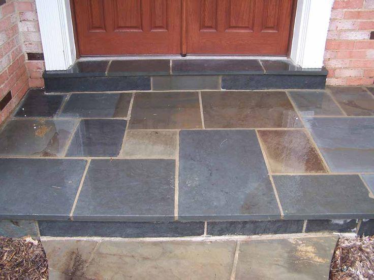 Image result for bad flagstone patio | Slate tile, Brick ...