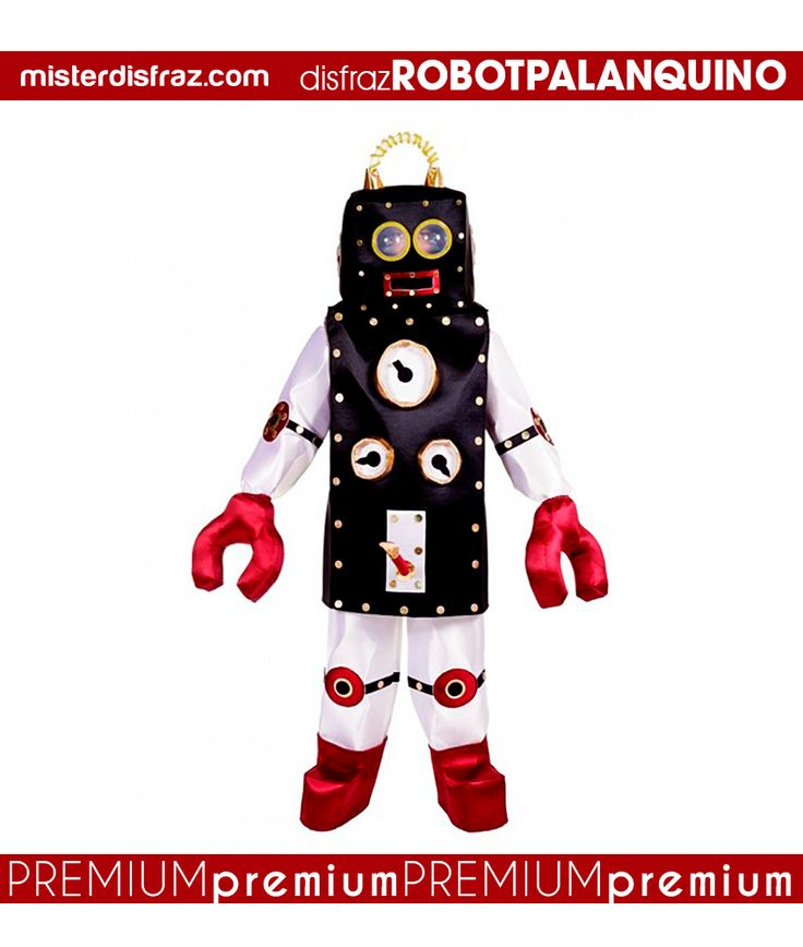 Disfraz de Robot Palanquino Hombre.  Un divertido y original disfraz de Robot para que te conviertas en la máquina más graciosa y original de todas las Fiestas de Disfraces.  #disfraz #disfraces #disfracesoriginales #disfracesdivertidos #disfracescachondos #disfracesgraciosos #disfrazhombre #disfrazrobotpalanquino #robotpalanquino #carnaval #premium #disfracespremium #premiumoriginales #misterdisfraz
