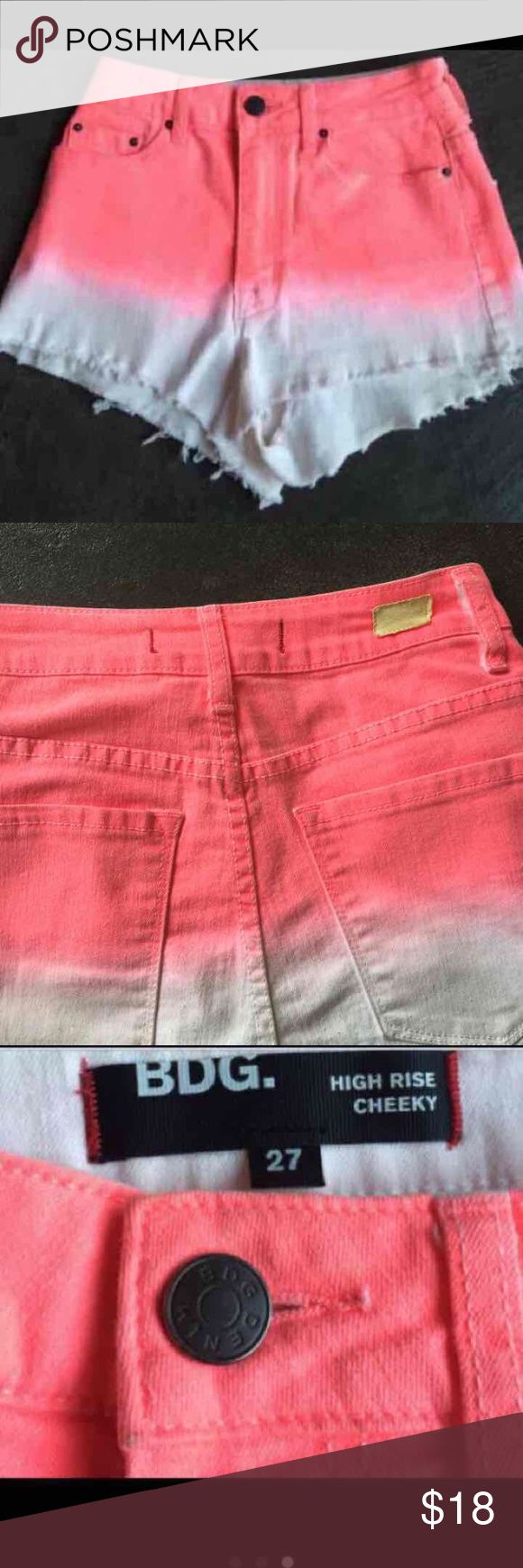 Urban Outfitters high waisted  shorts 😎 Popsicle colored urban outfitters jeans shorts , high waisted shorts😎so cute on you'll get a ton of compliments! Urban Outfitters Shorts