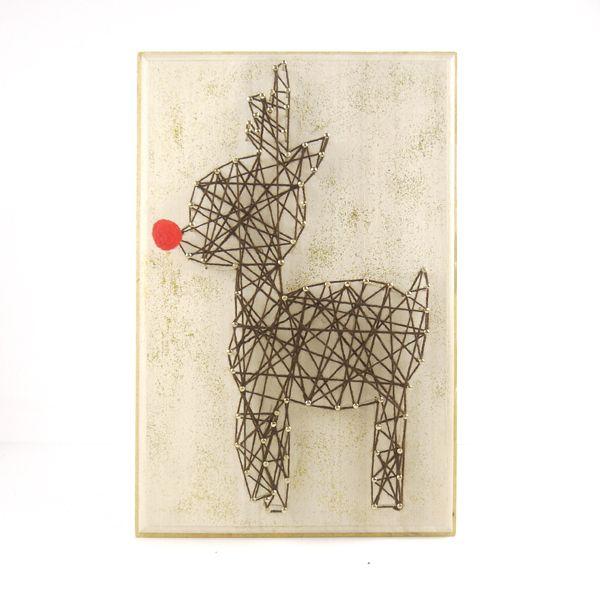 DIY kit String art – Rudolph Christmas DIY | Kolamaya