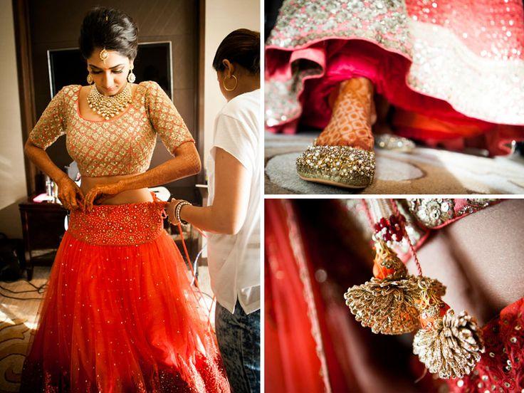 A beautiful pair of diamond studded mojris for the wedding of Dr Aalika Banerji of WeddingSutra.