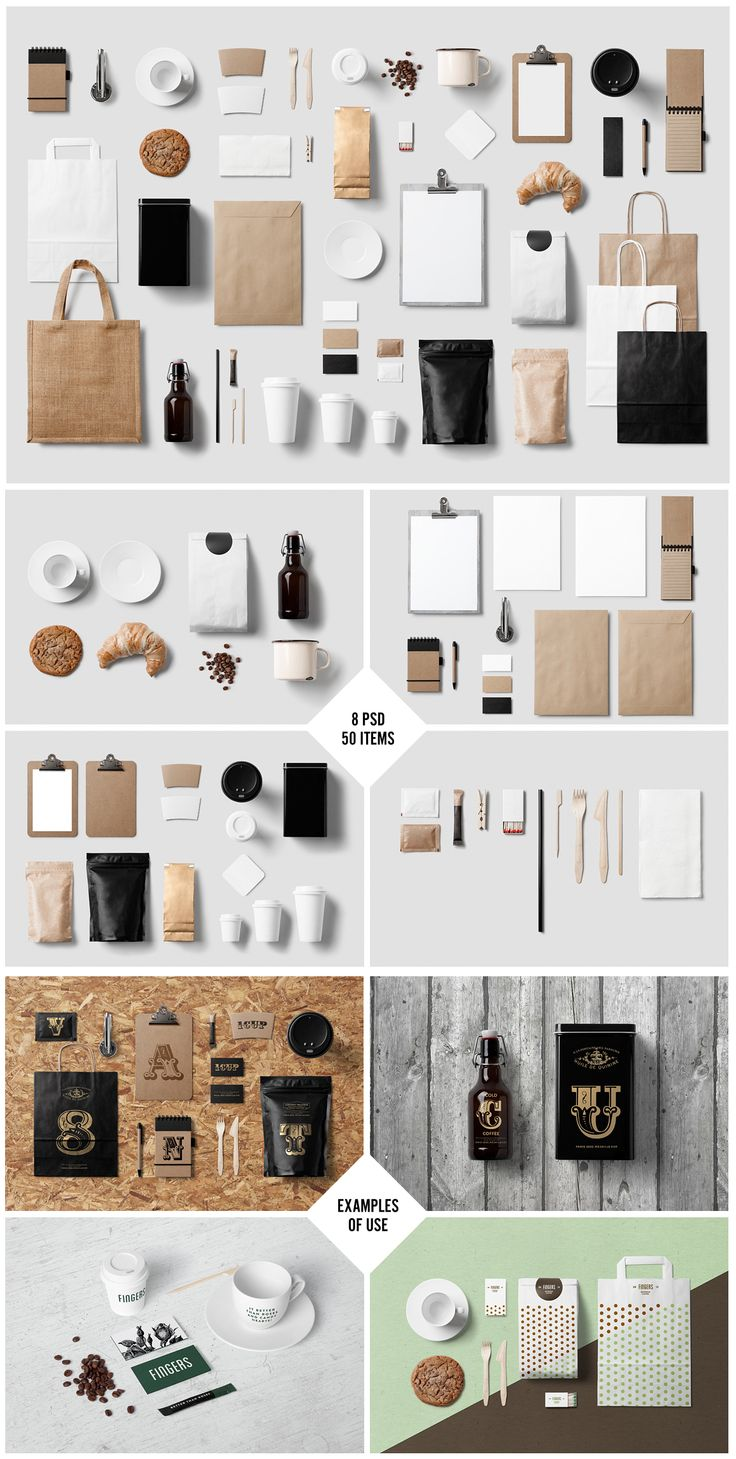 Coffee Stationery Branding Mock Up By ForgraphicTM Designtools Mockups