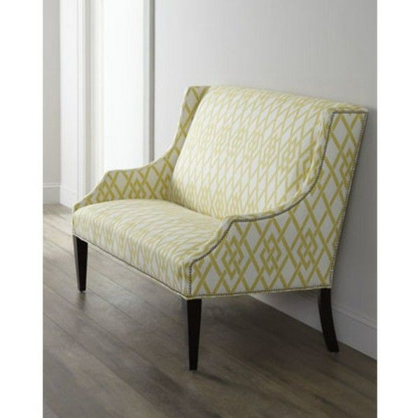 Couches and benches yellow patterned design