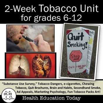Health Unit: Tobacco - Get This Creative Way to Teach Your Tobacco Lessons!