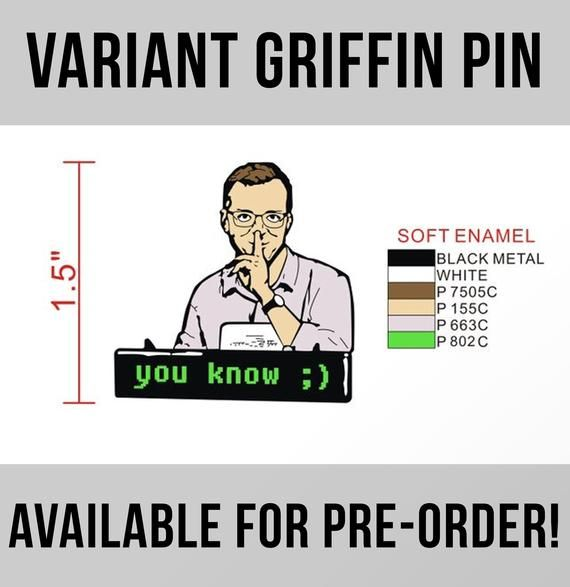 Restocked Griffin Mcelroy Enamel Pin Electronic Resume By