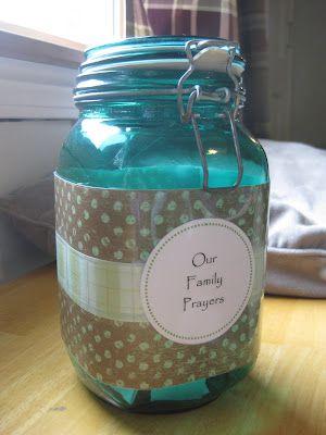Lent-themed prayer jar - printable prayers - one to use each day of the lent season (Catholic blogger)