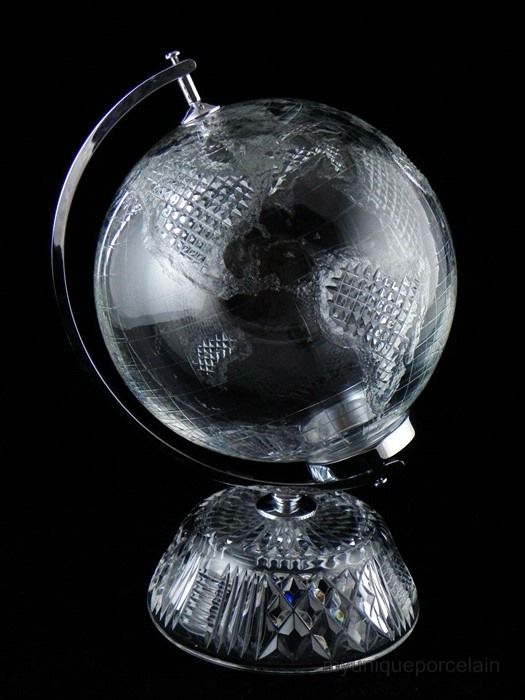 Waterford Crystal Large World Globe Rare Excellent Condition Waterford Crystal Globes And