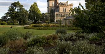 The award-winning Larnach Castle garden near Dunedin spans 34 acres and is one of five Gardens of International Significance in New Zealand
