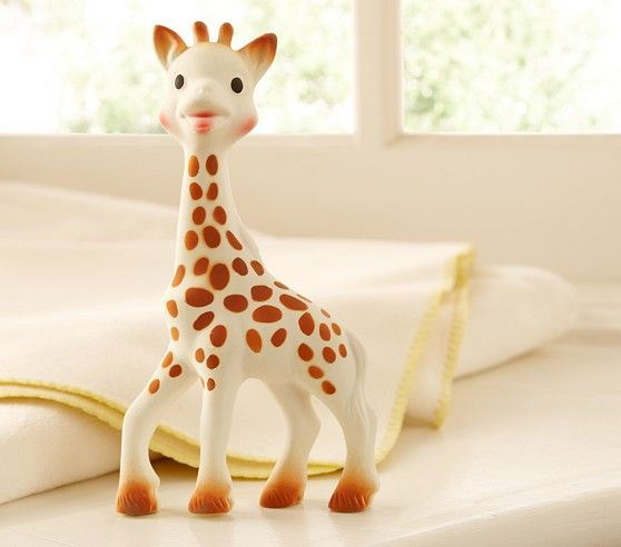 Sophie the Giraffe teething toy is recommended $23.00