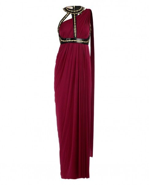 Oxblood Sari Gown