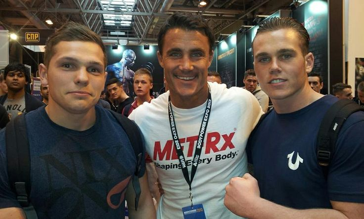 My mate and me at body expo 2013 meeting greg plitt top bloke good motivation and knows his shit!