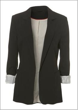 black blazer for women | The black boyfriend blazer: