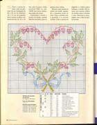 Schema punto croce Cuore-vegetale
