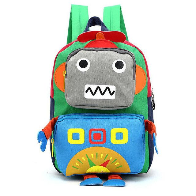 d62f4e6878b Chuwanglin Casual robot Children s backpack fashion 1-5 grade boys and girls  backpack school bag canvas Primary school backpack