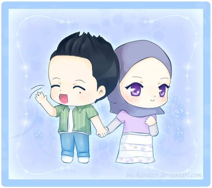 Chibi Muslim Couple