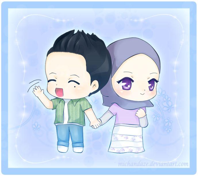Chibi Muslim Couple Cartoons Pinterest
