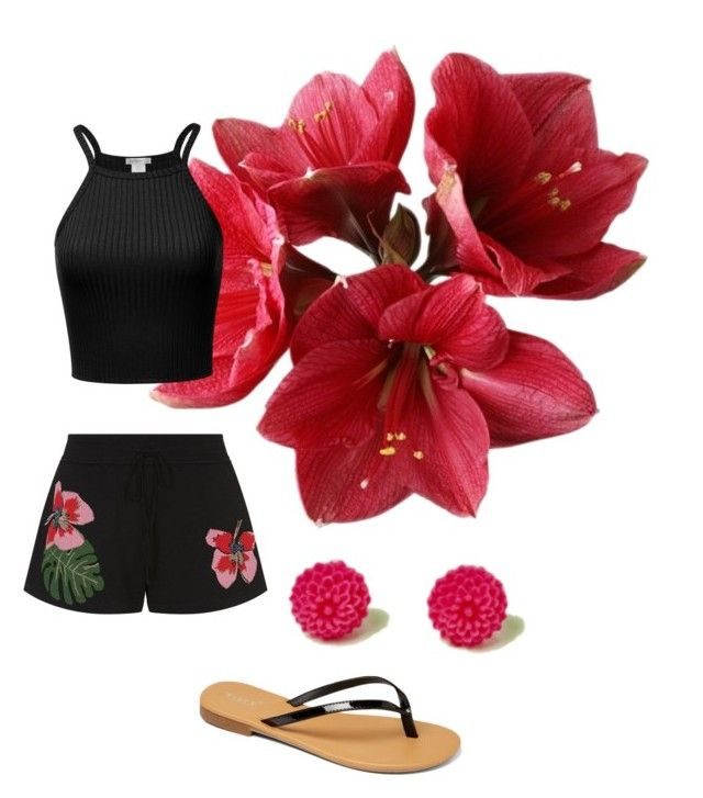 """""""Hawaii Outfit"""" by sweetcorner on Polyvore featuring moda, Valentino y TIARA"""
