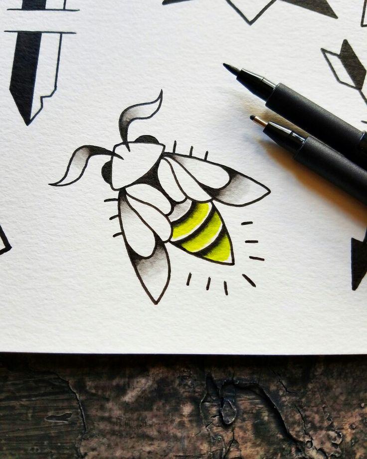 cute minimal firefly tattoo flash design by nico di pisarro