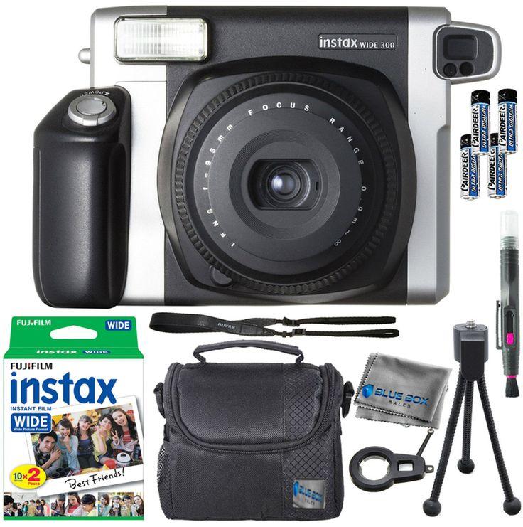 Fujifilm Instax Wide 300 Instant Camera  20 Instant Film  Extra Accessories