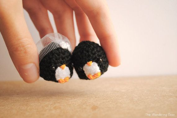 Amigurumi Penguin wedding gift bride and groom by TheWanderingDeer