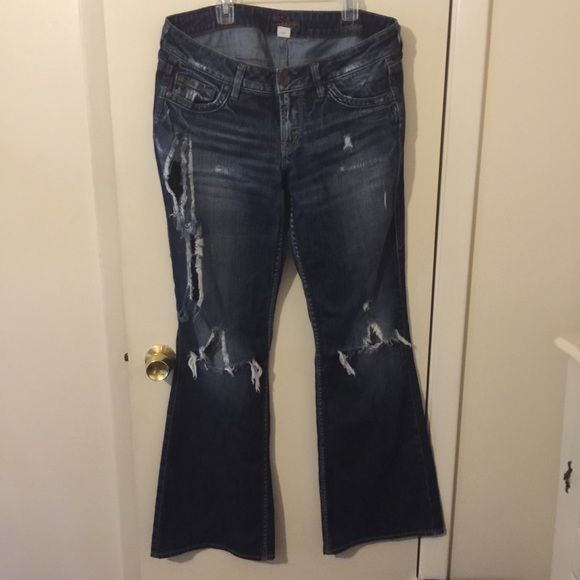 Silver jeans Eden size 31/33 Destructed