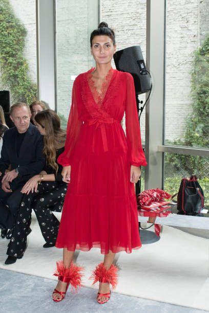 Giovanna Battaglia attends the Giambattista Valli Paris show as part of the  Paris Fashion Week Womenswear Spring Summer 2018 on October 2 2017 in. 25d73eaceb6