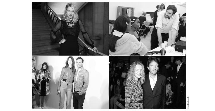 Charlotte Gainsbourg et Nicolas Guesquières en backstage chez Louis Vuitton, Christophe Lemaire dans les coulisses de son dernier show Hermès, Léa Seydoux au défilé Miu Miu...