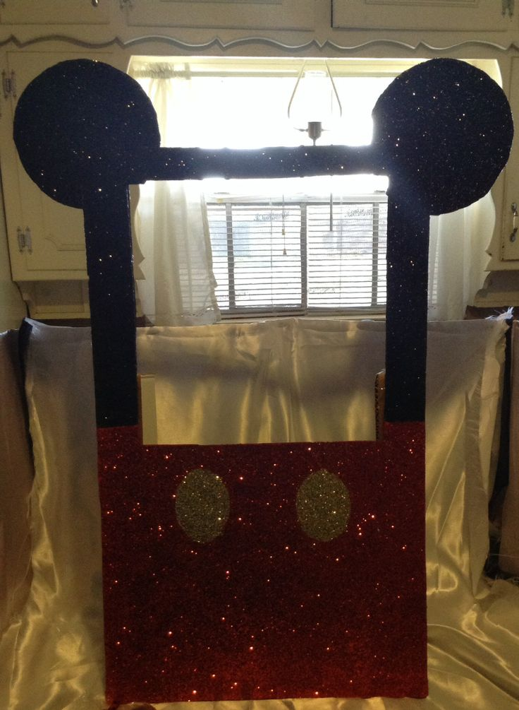 Mickey Mouse photo booth