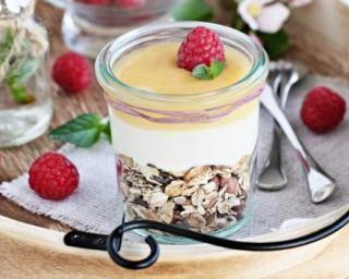 Yaourt 0% aux flocons d'avoine et citron à moins de 100 calories
