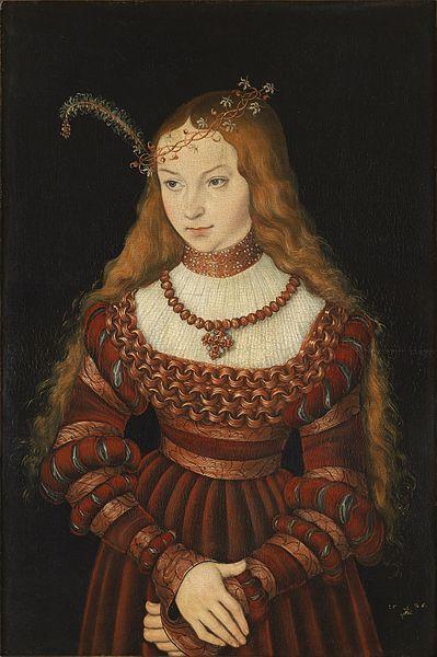 La princesa de Clèves. 1526. Lucas Cranach el Viejo