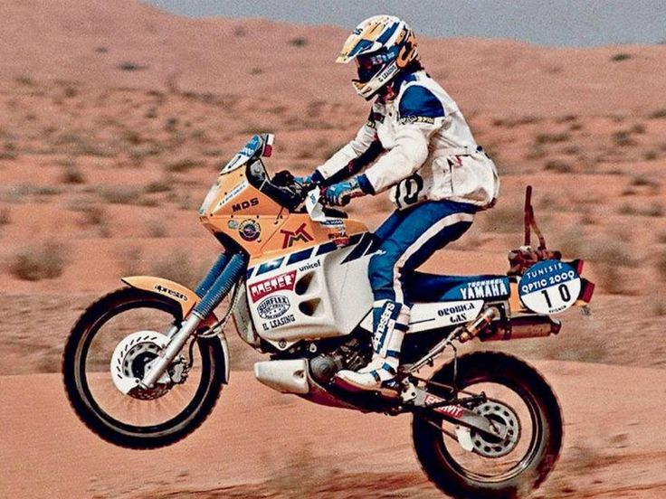 Beppe Gualini, Yamaha XT 660, Rally di Tunesia, 1993.
