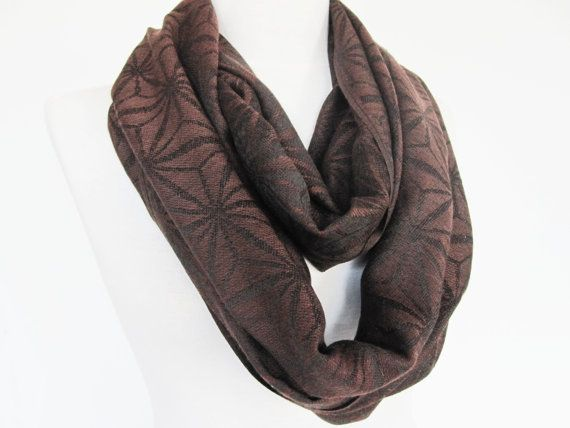 Brown Pashmina  Scarf Long Scarf Cowl by mediterraneanlights