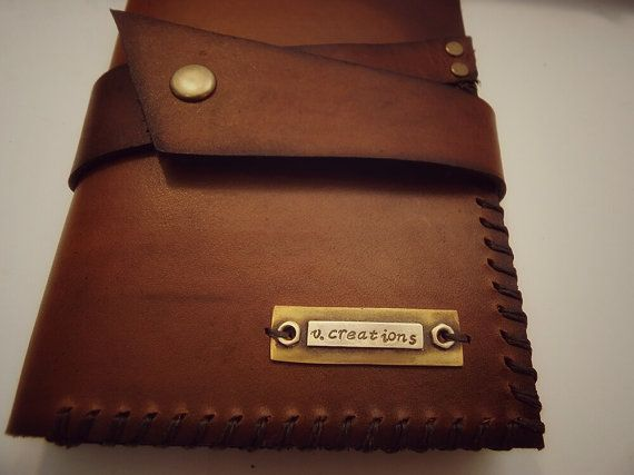 Personalized Leather journal moleskine notes by VakalisCreations