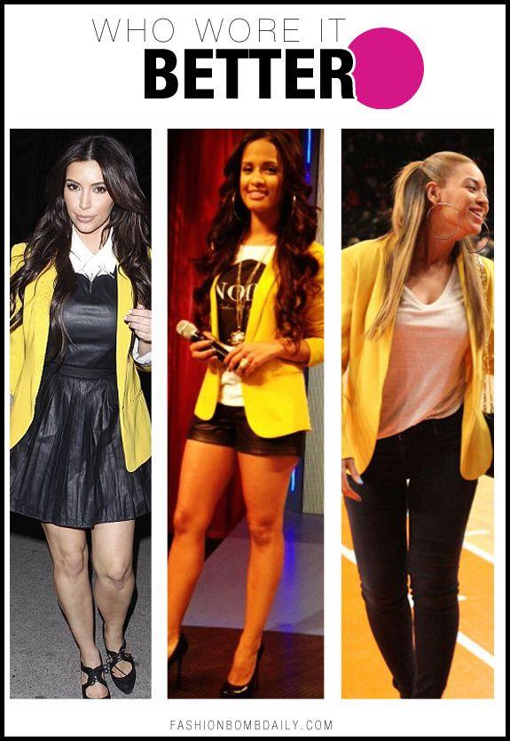 Yellow Blazer outfit ideas