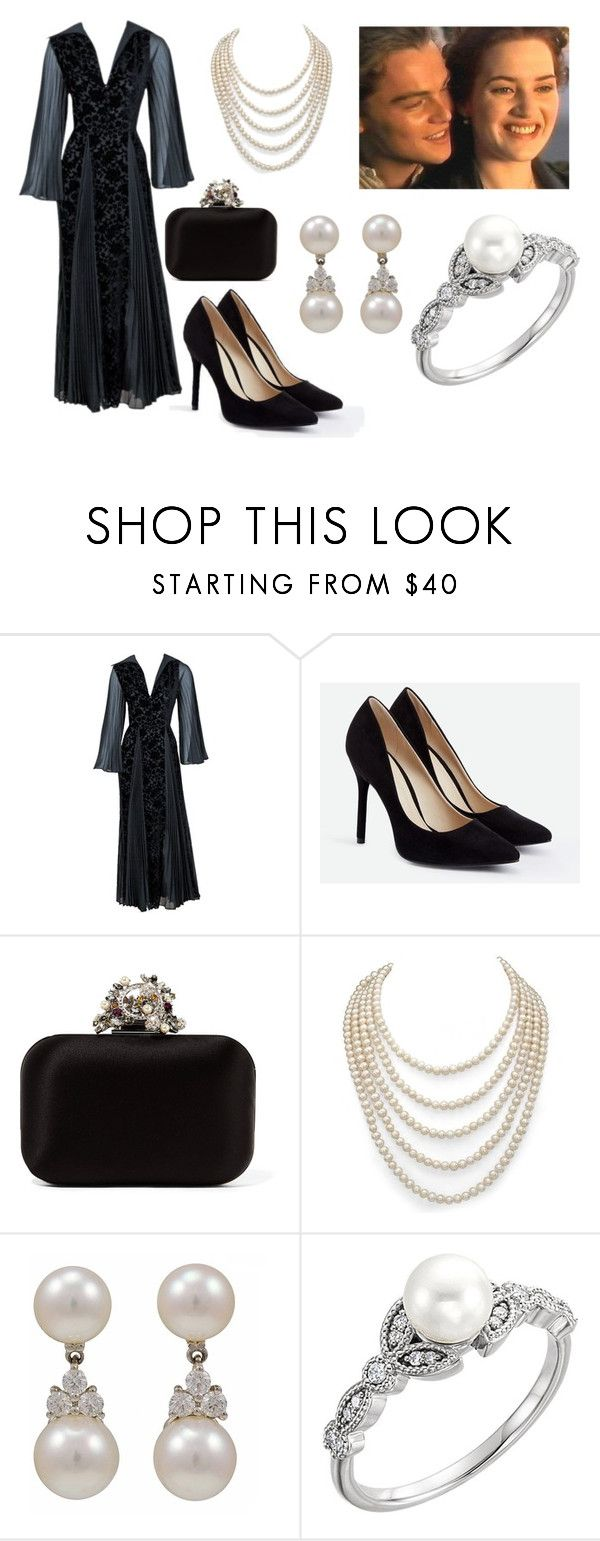 """Be my Jack and I'll be your Rose"" by zoya-athar ❤ liked on Polyvore featuring Thea Porter, JustFab, Jimmy Choo, DaVonna and Tiffany & Co."