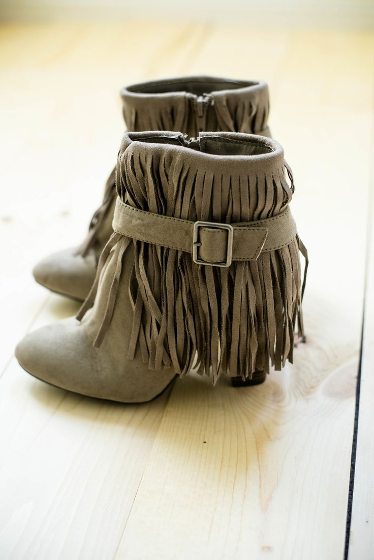 No Hassel Tassel Ankle Boots
