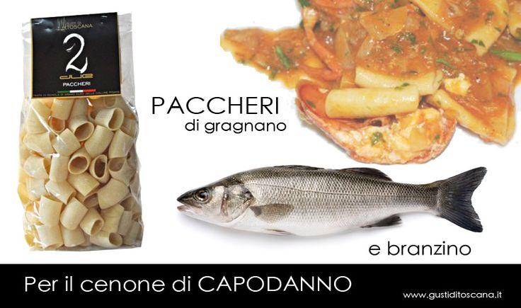 Stai pensando al #menu di #SanSilvestro? Ti proponiamo i nostri PACCHERI di GRAGNANO ripieni di branzino. Scopri la #ricetta QUI>> http://bit.ly/1xQJC4h #madeinitaly #cucinaitaliana #Toscana Scopri gli altri formati di #pasta! http://www.gustiditoscana.it/pasta.html