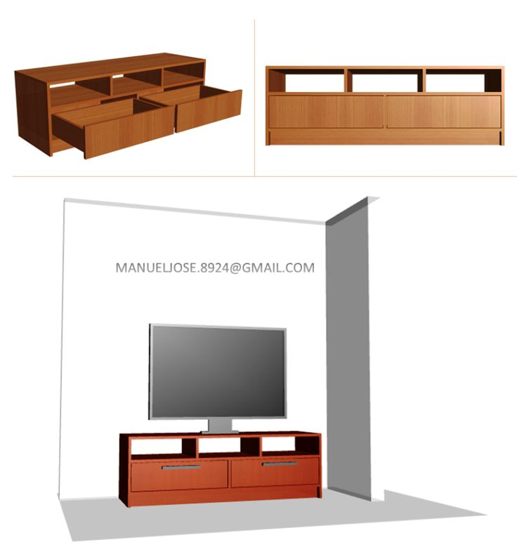 Diseño De Muebles Madera: Diseños: Construir Mueble Para TV Pantalla Plana LED, LCD - Centro De Entretenimiento