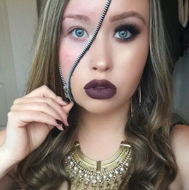 two faced by kingkelseey. Upload your Halloween selfie on Sephora's Beauty Insider Community for a chance to be featured!