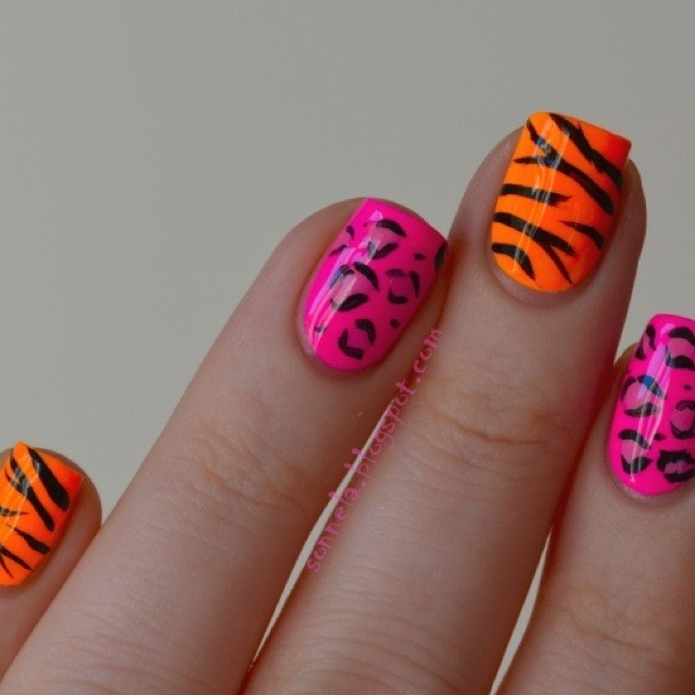 Animal instinct | Nails; Gel,Glitter Just Beautiful | Pinterest