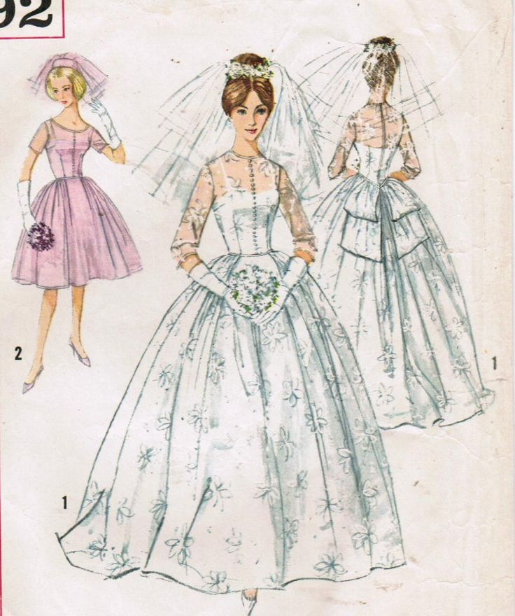 1366 best Vintage Bridal Patterns images on Pinterest | Vintage ...