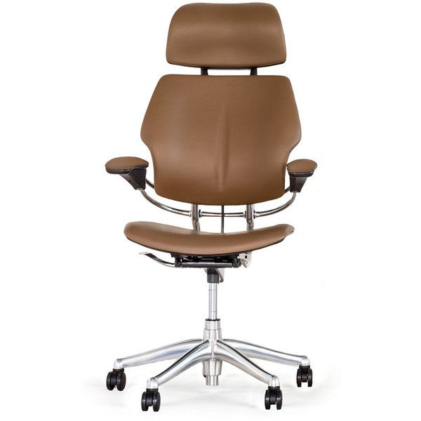 humanscale freedom headrest office chair bizon leather miso liked on - Leather Office Chairs