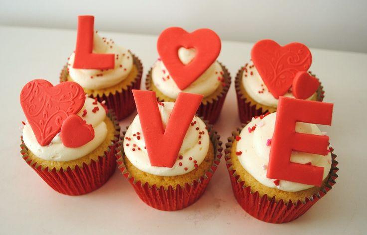 cupcakes san valentin - Buscar con Google