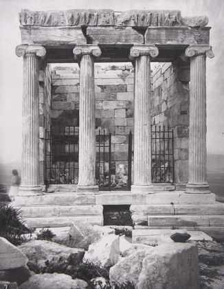 William James Stillman. Eastern Facade of the Temple of Victory. 1869