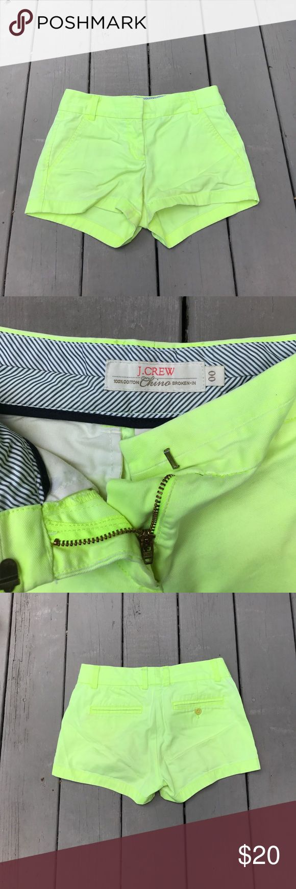 lime green shorts j crew chino style gently worn J. Crew Shorts