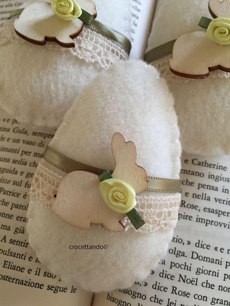 Easter felt egg by giuseppina ceraso crocettando https://crocettando.wordpress.com/2018/02/21/uova-di-pasqua-in-pannolenci-tutorial/