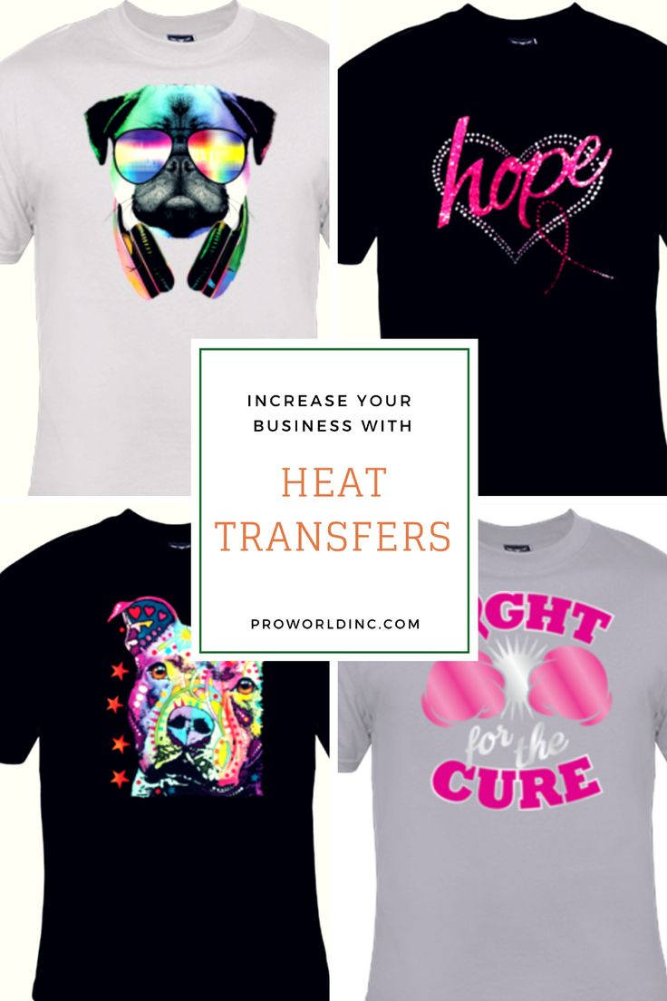 Increase your business with heat transfers and a heat for Heat press decals for t shirts